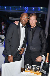 Left to right, SAMUEL L JACKSON and BENEDICT CUMBERBATCH at the GQ Men Of The Year 2014 Awards in association with Hugo Boss held at The Royal Opera House, London on 2nd September 2014.