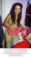 AMELIA FARRELL ex wife of actor Colin Farrell, at a party in London on 21st September 2003.PMU 590