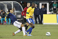 Brazil Midfielder Ramires (Chelsea FC – England) (7) during the Brazil vs Colombia friendly soccer match at MetLife Stadium in East Rutherford, NJ.