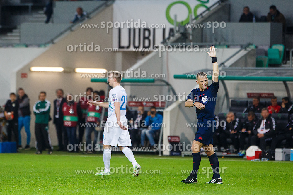 Robert Beric of Slovenia during the EURO 2016 Qualifier Group E match between Slovenia and Lithuania, on October 9, 2015 in SRC Stozice, Ljubljana Slovenia. Photo by Grega Valancic / Sportida