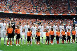 05-06-2010 VOETBAL: NEDERLAND - HONGARIJE: AMSTERDAM<br /> Nederland wint met 6-1 van Hongarije / Hongarije line-up<br /> ©2010-WWW.FOTOHOOGENDOORN.NL