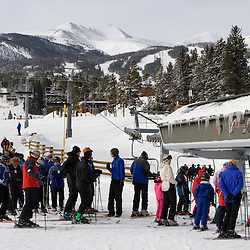 Life line at Breckenridge ski area Colorado USA