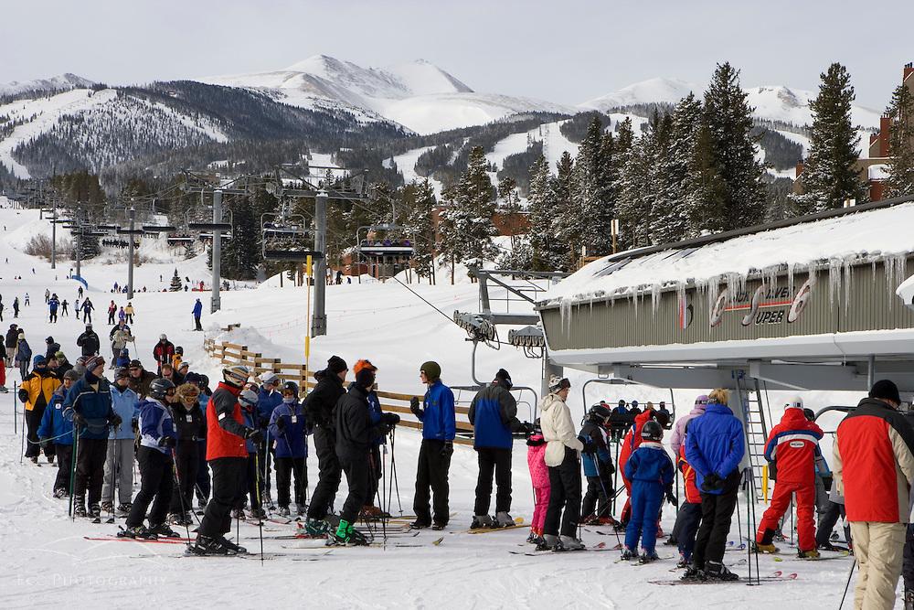 Life line at Breckenridge ski area Colorado USA