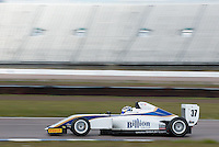 #37 Sisa NGEBULANA (RSA)  HHC Motorsport  Tatuus-Cosworth  BRDC British F3 Championship at Rockingham, Corby, Northamptonshire, United Kingdom. April 30 2016. World Copyright Peter Taylor/PSP.
