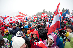 14.01.2012, Kulm, Bad Mitterndorf, AUT, FIS Ski Flug Weltcup, Probesprung, im Bild Fans // Fans during the qualification of FIS Ski Flying World Cup at the 'Kulm', Bad Mitterndorf, Austria on 2012/01/14, EXPA Pictures © 2012, PhotoCredit: EXPA/ Erwin Scheriau