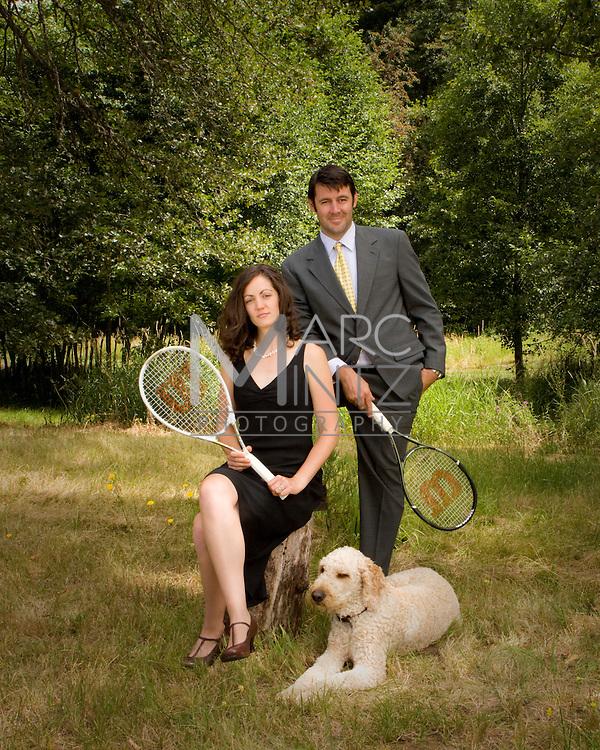 Tennis anyone?  Nick and Lauren.  Odell, Oregon.
