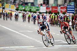 Tayler Wiles (USA) leads the bunch at La Madrid Challenge by La Vuelta 2019 - Stage 2, a 98.6 km road race in Madrid, Spain on September 15, 2019. Photo by Sean Robinson/velofocus.com