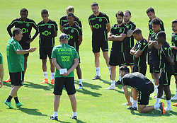 July 12, 2018 - Na - Nyon, 12/07/2018 - Sporting Clube de Portugal trained this morning during their pre-season training session in Switzerland at the Colovray Sports Center in Nyon. José Peseiro, Piccini  (Credit Image: © Atlantico Press via ZUMA Wire)
