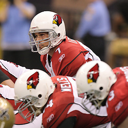 16 January 2010:  Arizona Cardinals quarterback Matt Leinart (7) under center during a 45-14 win by the New Orleans Saints over the Arizona Cardinals in a 2010 NFC Divisional Playoff game at the Louisiana Superdome in New Orleans, Louisiana.