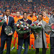 NLD/Amsterdam/20121114 - Vriendschappelijk duel Nederland - Duitsland, huldiging Patrick Kluivert, Michael Reiziger, Edgar Davids en Ruud van Nistelrooij