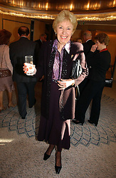 JOAN MORECAMBE at the Lady Taverners Tribute lunch in honour of Ronnie Corbett held at The Dorchester Hotel, Park Lane, London on 3rd November 2006.<br /><br />NON EXCLUSIVE - WORLD RIGHTS