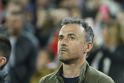 March 23, 2019 - Valencia, Community of Valencia, Spain - Spain's coach Luis Enrique seen during the Qualifiers - Group B to Euro 2020 football match between Spain and Norway in Valencia, Spain. Spain beat Norway, 2-1 (Credit Image: © Manu Reino/SOPA Images via ZUMA Wire)