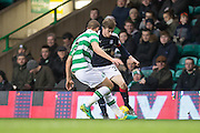 Dundee's Craig Wighton runs at Celtic's Jozo Simunovic - Celtic v Dundee in the Ladbrokes Scottish Premiership at Celtic Park, Glasgow. Photo: David Young<br /> <br />  - © David Young - www.davidyoungphoto.co.uk - email: davidyoungphoto@gmail.com