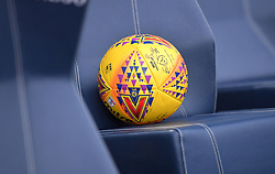Close up of one of the official match balls prior to kick-off