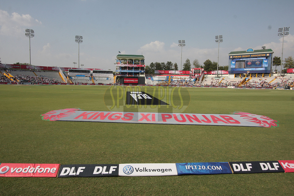 Ground during match 9 of the Indian Premier League ( IPL ) Season 4 between the Kings XI Punjab and the Chennai Super Kings held at the PCA stadium in Mohali, Chandigarh, India on the 13th April 2011..Photo by Anil Dayal/BCCI/SPORTZPICS