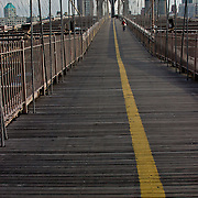 Footpath on the Brooklyn Bridge
