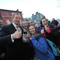 An Taoiseach Enda Kenny meets locals while campaigning in Kinsale last Friday.<br /> Picture. John Allen