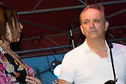Lou Ann Barton, Jimmie Vaughan and the Tilt-A-Whirl Band at Blues on the Green at Waterloo Park, Austin Texas, July 1, 2009.