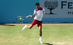 Serbia's Novak Djokovic during day four of the Fever-Tree Championship at the Queen's Club, London.