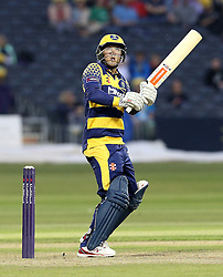 Colin Ingram of Glamorgan on his way to scoring a half century - Mandatory by-line: Robbie Stephenson/JMP - 10/06/2016 - CRICKET - Brightside Ground - Bristol, United Kingdom - Gloucestershire v Glamorgan - NatWest T20 Blast