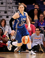 Sep 25, 2011; Phoenix, AZ, USA; Minnesota Lynx guard Lindsay Whalen(13)  reacts on the court while playing Phoenix Mercury at the US Airways Center. The Lynx defeated the Mercury 103-86. Mandatory Credit: Jennifer Stewart-US PRESSWIRE