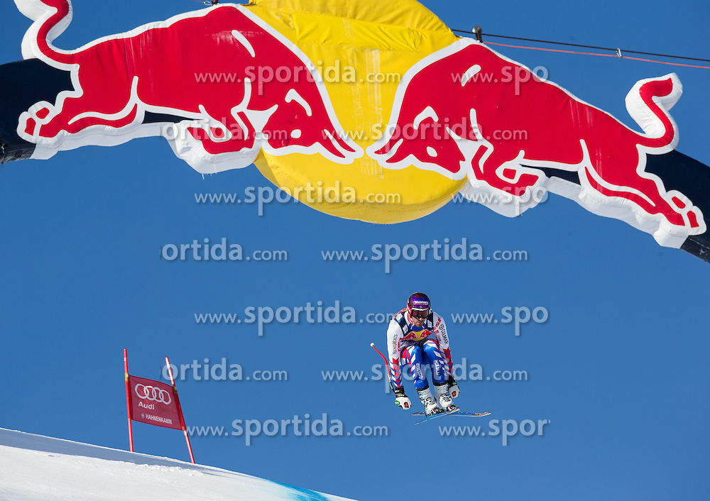 24.01.2013, Streif, Kitzbuehel, AUT, FIS Weltcup Ski Alpin, Abfahrt, Herren, 3. Training, im Bild Adrien Theaux (FRA) // Adrien Theaux of France in action during 3th practice of mens Downhill of the FIS Ski Alpine World Cup at the Streif course, Kitzbuehel, Austria on 2013/01/24. EXPA Pictures © 2013, PhotoCredit: EXPA/ Johann Groder