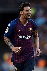 September 29, 2018 - Barcelona, Barcelona, Spain - Leo Messi of FC Barcelona looks on during the La Liga match between FC Barcelona and Athletic Club de Bilbao at Camp Nou on September 29, 2018 in Barcelona, Spain  (Credit Image: © David Aliaga/NurPhoto/ZUMA Press)