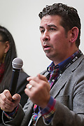 Alberto Maldonado speaks during the Cap Times Idea Fest 2018 at the Pyle Center in Madison, Wisconsin, Saturday, Sept. 29, 2018.