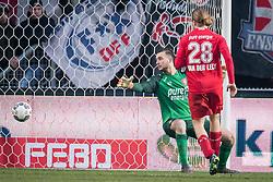 goalkeeper Joel Drommel of FC Twente 0-1 during the Dutch Eredivisie match between FC Twente Enschede and FC Groningen at the Grolsch Veste on March 04, 2018 in Enschede, The Netherlands