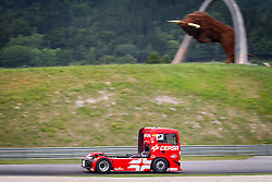 06.07.2013, Red Bull Ring, Spielberg, AUT, Truck Race Trophy, Renntag 1, im Bild Antonio Albacete, (ESP, Equipo Cepsa, #2, 1. Platz) // during the Truck Race Trophy 2013 at the Red Bull Ring in Spielberg, Austria, 2013/07/06, EXPA Pictures © 2013, PhotoCredit: EXPA/ M.Kuhnke
