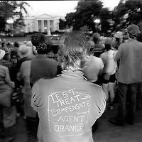 Agent Orange protest outside the White House in Washington, DC on May 13, 1982.