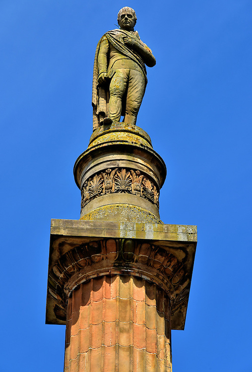 Sir Walter Scott Monument in Glasgow, Scotland<br />