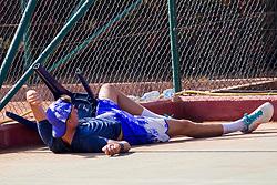 Dorian Tomaz Janezic (SLO) play against Jonas Zibrat (SLO) at ATP Challenger Zavarovalnica Sava Slovenia Open 2017, on August 4, 2017 in Sports centre, Portoroz/Portorose, Slovenia. Photo by Urban Urbanc / Sportida