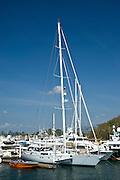 Sailing boats at Amador marina. Panama City, Panama, Central America.