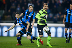 February 8, 2018 - Brugge, BELGIUM - Club's Matej Mitrovic and Standard's Orlando Sa fight for the ball during a soccer game between Club Brugge KV and Standard de Liege, the return leg of the Croky Cup 1/2 final, in Brugge, Thursday 08 February 2018. BELGA PHOTO BRUNO FAHY (Credit Image: © Bruno Fahy/Belga via ZUMA Press)