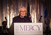 Sister Betty Smith, RSM delivers the invocation at the Mercy Hospital & Medical Center's 51st Dinner Dance Gala at the Hilton Chicago on September 28, 2018. (Photo:Natalie Battaglia)