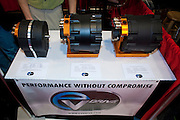 SEMA 2011 in Las Vegas Nevada, an automobile after market show. EV Drive Train water cooled scalable electric motors.