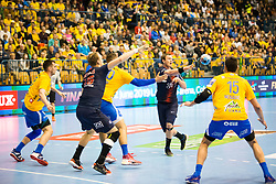 Drasko Nenadic vs PSG HB during handball match between RK Celje Pivovarna Lasko (SLO) and Paris Saint-Germain HB (FRA) in VELUX EHF Champions League 2018/19, on February 24, 2019 in Arena Zlatorog, Celje, Slovenia. Photo by Peter Podobnik / Sportida