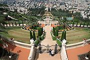 view over bahai gardens haifa israel