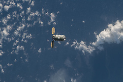 May 24, 2018 - Space - The Orbital ATK space freighter is pictured as it slowly and methodically approaches the International Space Station before its capture with the Canadarm2 robotic arm to resupply the Expedition 55 crew. (Credit Image: ? NASA/ZUMA Wire/ZUMAPRESS.com)