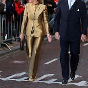 NLD/Amsterdam/20080201 - Verjaardagsfeest Koninging Beatrix en prinses Margriet, aankomst prinses maxima Zorrequieta en partner kroonprins Willem Alexander