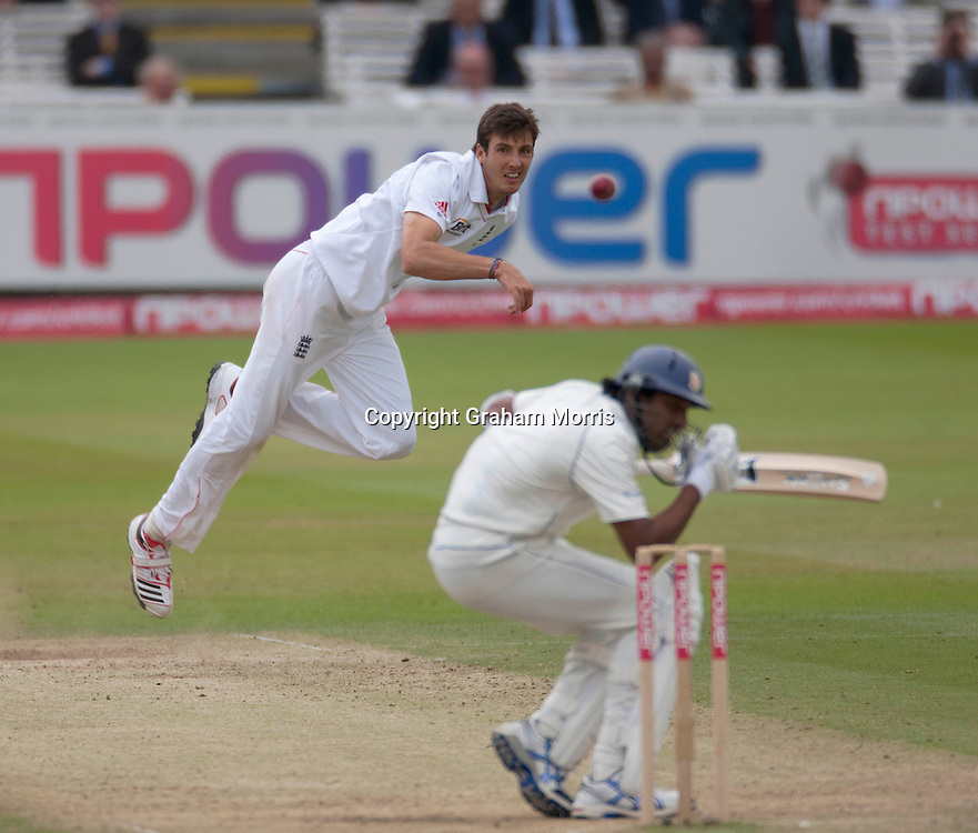 Steven Finn bounces Chanaka Welegedara during the second npower Test Match between England and Sri Lanka at Lord's.  Photo: Graham Morris (Tel: +44(0)20 8969 4192 Email: sales@cricketpix.com) 06/06/11