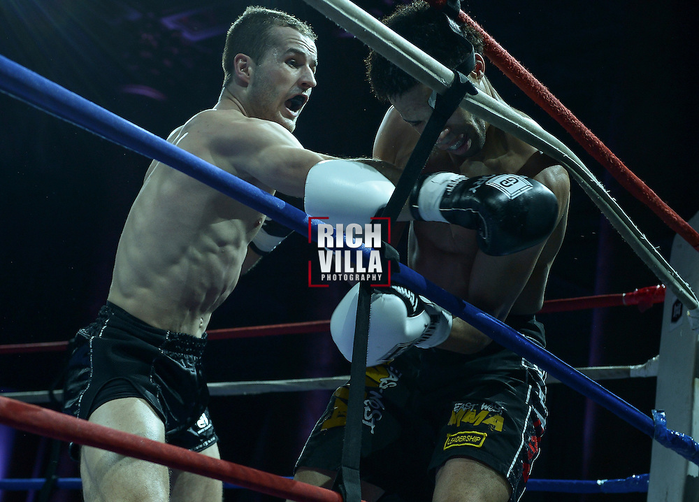 Friday, April 4, 2014, New York, NY:  Andre Schuler( white gloves) Vs Elvis Gashi(black gloves) at The Capitale Ballroom in Combat at The Capitale 32.