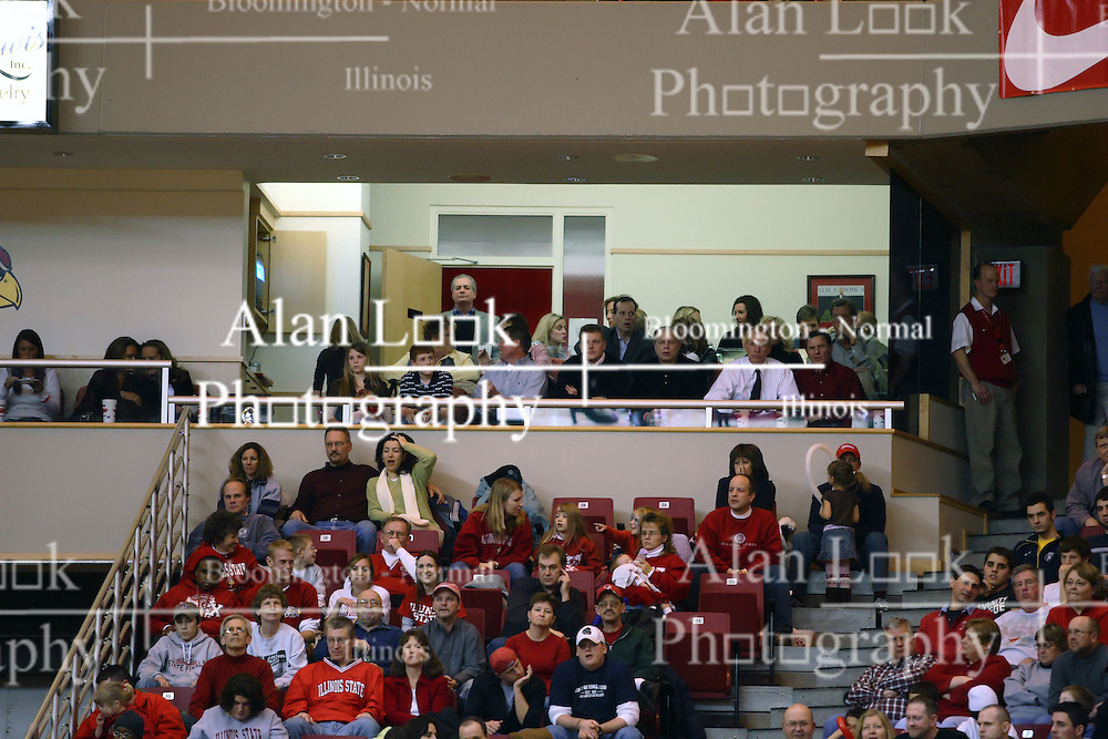 03 February 2007: Doug Collins and friends in the executive suite. Doug is in white shirt on right. In what is locally referred to as the War on Seventy Four, the Bradley Braves defeated the Illinois State University Redbirds 70-62 on Doug Collins Court inside Redbird Arena in Normal Illinois.