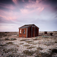 Old rusting shed on Dungeness, East Sussex, UK