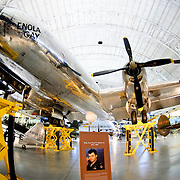 The historic and controversial Enola Gay (the B-29 bomber tha dropped the atomic bomb on Hiroshima) on display at the Smithsonian Air and Space Museum (Stephen F. Udvar-Hazy Center) in Chantilly, Virginia