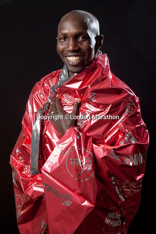 Wilson Kipsang of Kenya, winner of the Elite Men's race at the Money London Marathon 2014 on Sunday 13 April 2014<br /> Photo: Neil Turner/Virgin Money London Marathon<br /> media@london-marathon.co.uk