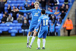 Martin Samuelsen of Peterborough United celebrates scoring the opening goal - Mandatory byline: Joe Dent/JMP - 09/01/2016 - FOOTBALL - ABAX Stadium - Peterborough, England - Peterborough United v Preston North End - FA Cup Third Round