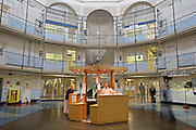 The central 'star' and control desk. HMP Wandsworth, London, United Kingdom