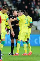 Wilfried BIEN / Lucas DEAUX - 31.01.2015 - Nantes / Lille - 23eme journee de Ligue 1 -<br />Photo : Vincent Michel / Icon Sport